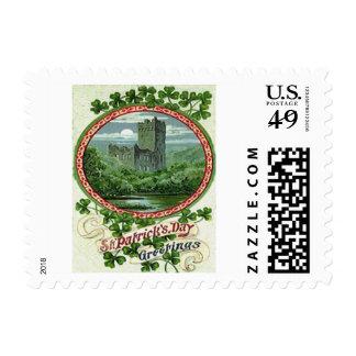 Green Blarney Castle Ireland Shamrock Postage