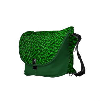 Green Blobs Commuter Bag