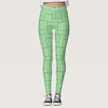 Green Block Leggings