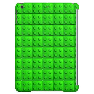Green blocks pattern iPad air case