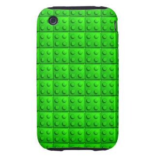 Green blocks pattern iPhone 3 tough case
