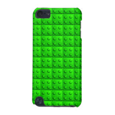 Green Blocks Pattern Ipod Touch (5th Generation) Case at Zazzle