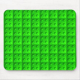 Green blocks pattern mouse pad