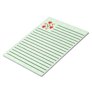 Green blocks pattern notepad