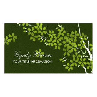 Green Blossoms Business Card