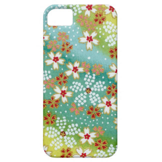 Green Blossoms Japanese Origami Print iPhone SE/5/5s Case