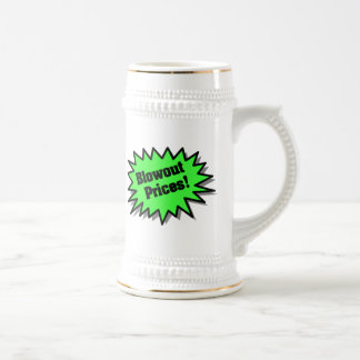 Green Blowout Prices Coffee Mugs