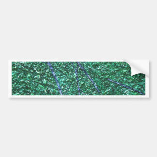 Green Blue Abstract Design Element Bumper Stickers