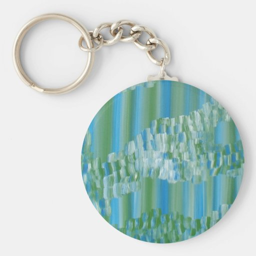 Green/Blue Abstract Key Chain