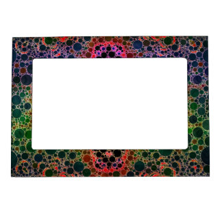 Green Blue Abstract Magnetic Frame