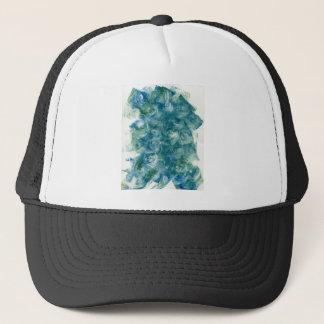 Green Blue Abstract Monoprint Trucker Hat