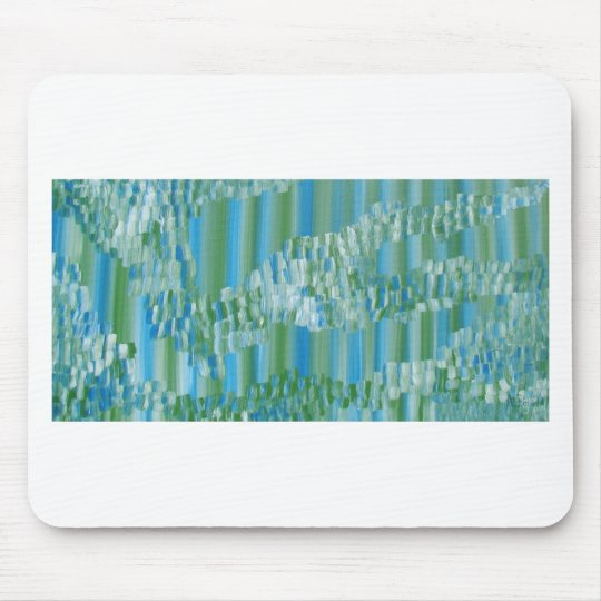 Green/Blue Abstract Mouse Pad