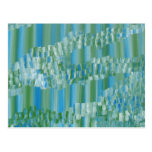 Green/Blue Abstract Postcards