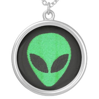 Green/blue ALIEN Face Necklace