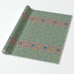 Green, Blue, and Gold Celtic Knot Wrapping Paper