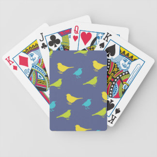 Green, Blue and Lime Birds Bicycle Playing Cards