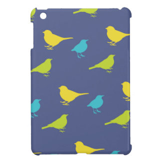 Green, Blue and Lime Birds iPad Mini Cover
