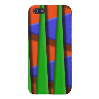 Green, blue and orange 3d stripes case for iPhone SE/5/5s