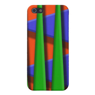 Green, blue and orange 3d stripes cover for iPhone SE/5/5s