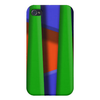Green, blue and orange 3d stripes covers for iPhone 4