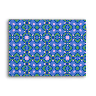 Green, Blue and Pink Pattern Envelope
