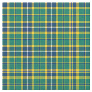 Green, Blue and Yellow Sporty Plaid Fabric