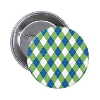 Green blue argyle pattern pin
