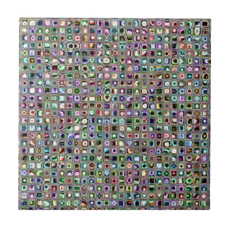 Green-Blue 'Bijoux' Textured Mosaic Tiles Pattern
