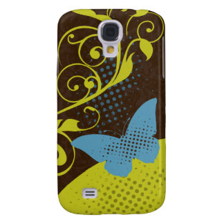 Green Blue Brown Butterfly Swirls iPhone 3G Case Samsung Galaxy S4 Cover