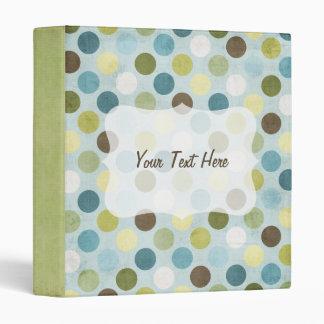 Green/Blue/Brown Large Polka Dot Baby Book 3 Ring Binder