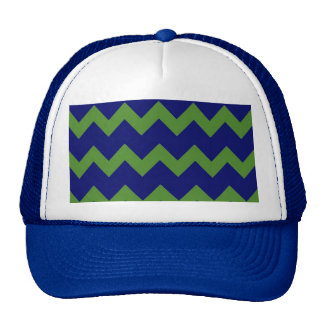 Green Blue Chevrons Hat
