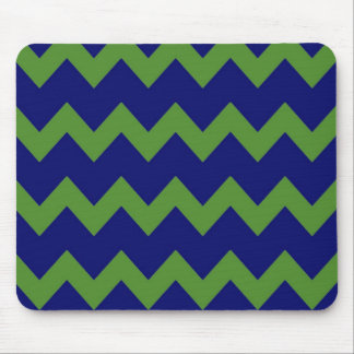 Green Blue Chevrons Mousepad