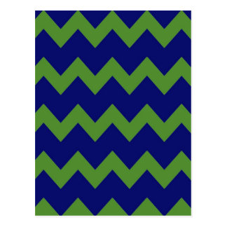 Green Blue Chevrons Postcard