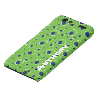 Green Blue Circle Pattern Cell Case Droid RAZR Motorola Droid RAZR Covers