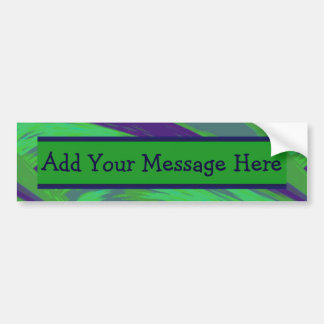 Green Blue Color Swish Bumper Sticker
