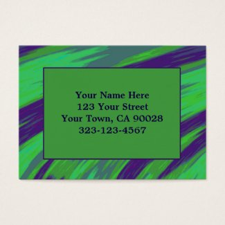 Green Blue Color Swish Business Card