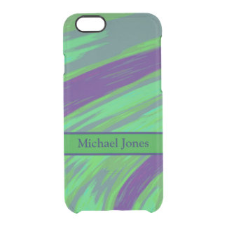 Green Blue Color Swish Clear iPhone 6/6S Case
