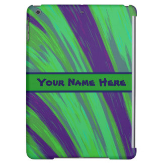Green Blue Color Swish Cover For iPad Air