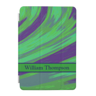 Green Blue Color Swish iPad Mini Cover