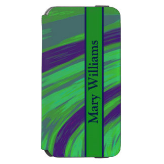 Green Blue Color Swish iPhone 6/6s Wallet Case