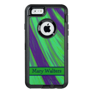 Green Blue Color Swish OtterBox Defender iPhone Case