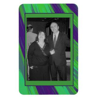Green Blue Color Swish Photo Frame Magnet