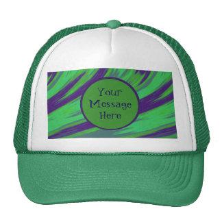 Green Blue Color Swish Trucker Hat