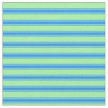 [ Thumbnail: Green & Blue Colored Striped/Lined Pattern Fabric ]