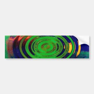Green & Blue Contemporary Abstract Art Bumper Sticker