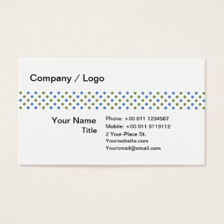 Green blue dots simple business card