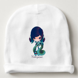 Green & Blue Dragon Lady Personalized Baby Beanie