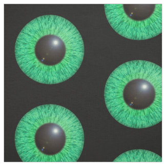 Green Blue Eye With Flare Fabric