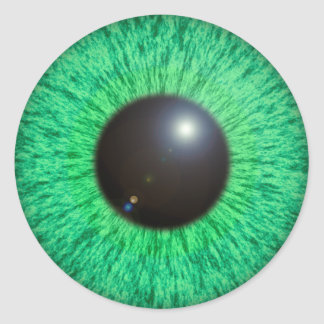 Green Blue Eye With Flare Sticker