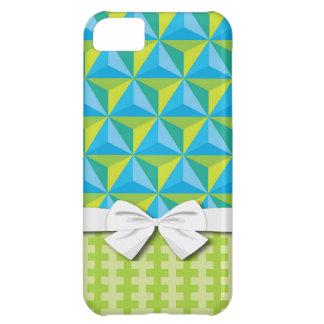 green blue geometric illusion iPhone 5C case